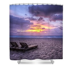 Relax Shower Curtain by Debra and Dave Vanderlaan