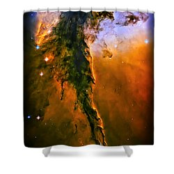 Release - Eagle Nebula 3 Shower Curtain by The  Vault - Jennifer Rondinelli Reilly