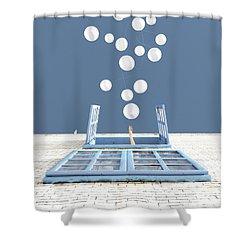 Release Shower Curtain by Cynthia Decker