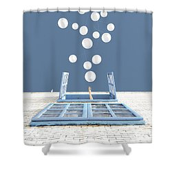 Release Shower Curtain by Cynthia Decker