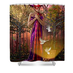 Release Variant I Shower Curtain by Ciro Marchetti