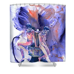 Reluctant Grace Shower Curtain by Rene Capone
