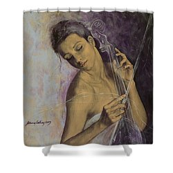 Remembrance Shower Curtain by Dorina  Costras