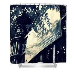 Rendezvous In Paris Shower Curtain by Carol Groenen