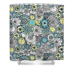 Repeat Print - Floral Burst Shower Curtain by Susan Claire
