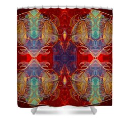 Repeating Realities Abstract Pattern Artwork By Omaste Witkowski Shower Curtain by Omaste Witkowski