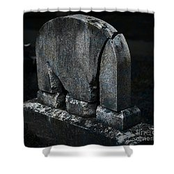 Rest In Pieces Shower Curtain by John Stephens