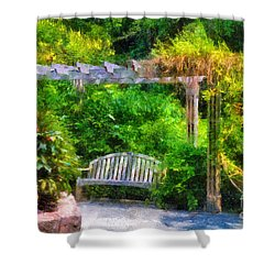 Restful Retreat Shower Curtain by Lois Bryan