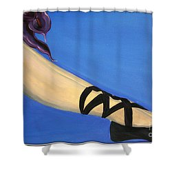 Resting Ballerina Shower Curtain by Jolanta Anna Karolska