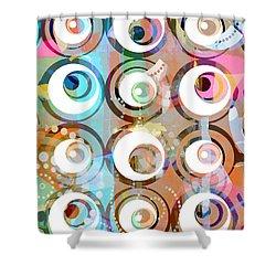 Retro Art 2 Shower Curtain by Artwork Studio