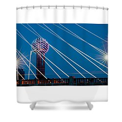 Reunion Tower Shower Curtain by Darryl Dalton