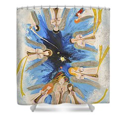 Revelation 8-11 Shower Curtain by Cassie Sears
