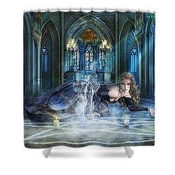 Reverence Shower Curtain by Drazenka Kimpel