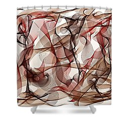 Ribbons Of Life Shower Curtain by Marian Palucci-Lonzetta