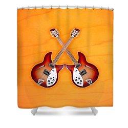 rickenbacker 12-S guitar Shower Curtain by Doron Mafdoos