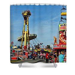 Rides Rides Rides Shower Curtain by Skip Willits