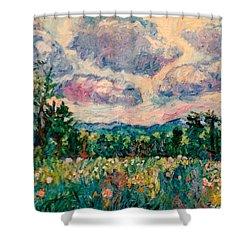 Ridge Light Shower Curtain by Kendall Kessler