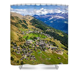 Riederalp Valais Swiss Alps Switzerland Europe Shower Curtain by Matthias Hauser