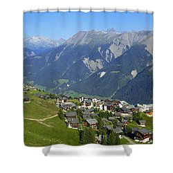 Riederalp Valais Swiss Alps Switzerland Shower Curtain by Matthias Hauser