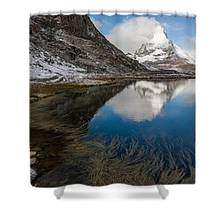 Riffelsee Shower Curtain by Konstantin Dikovsky