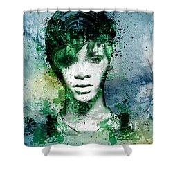 Rihanna 4 Shower Curtain by Bekim Art