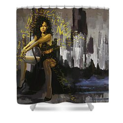 Rihanna Shower Curtain by Corporate Art Task Force