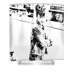 Rihanna Hanging Out Shower Curtain by Brian Reaves