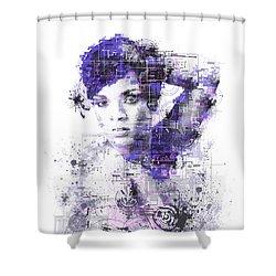 Rihanna Shower Curtain by Bekim Art