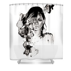 Rihanna Stay Shower Curtain by Molly Picklesimer