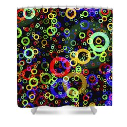 Rings In Space Shower Curtain by Daniel Hagerman
