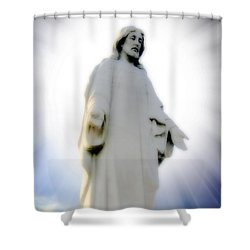 Risen Shower Curtain by Brian Wallace