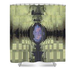 Riven Shower Curtain by Tim Allen