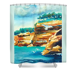 River Cliffs 2 Shower Curtain by Kathy Braud