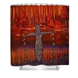 River Dance Shower Curtain by Barbara St Jean