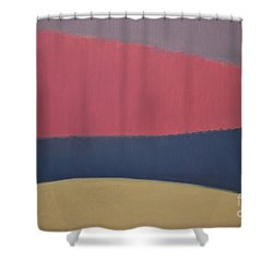River Shower Curtain by Karen Francis