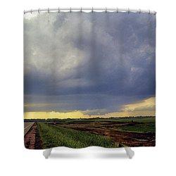 Road To The Tornado - Woonsocket South Dakota Shower Curtain by Jason Politte