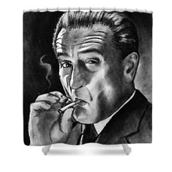 Robert De Niro Shower Curtain by Salman Ravish