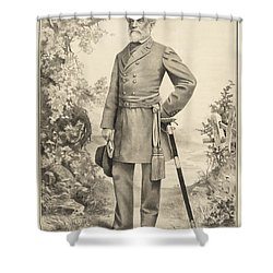 Robert E Lee Shower Curtain by Digital Reproductions