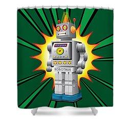 Robotman Shower Curtain by Gary Grayson