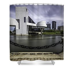 Rock And Roll Hall Of Fame Shower Curtain by James Dean