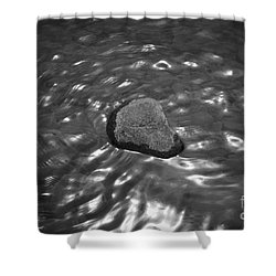 Rock And Sun Reflections Shower Curtain by Dave Gordon