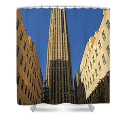 Ge Building  Shower Curtain by Dan Sproul