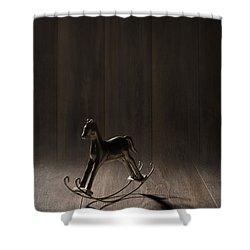 Rocking Horse Shower Curtain by Amanda Elwell