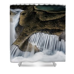Rocks In Paradise Shower Curtain by Inge Johnsson