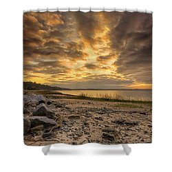 Rocky Beach Shower Curtain by Phill Doherty
