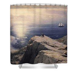 Rocky Coastal Shower Curtain by Ivan Konstantinovich Aivazovsky