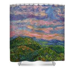 Rocky Knob Evening Shower Curtain by Kendall Kessler
