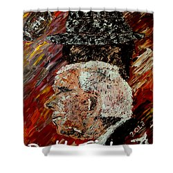 Roll Tide With Bear Bryant And Mal Moore  Shower Curtain by Mark Moore