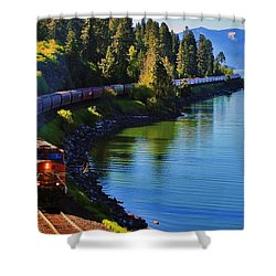 Rollin' Round The Bend Shower Curtain by Benjamin Yeager