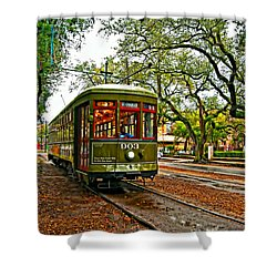 Rollin' Thru New Orleans Painted Shower Curtain by Steve Harrington